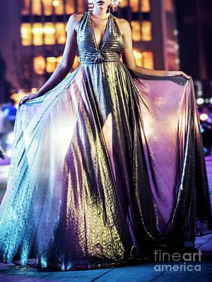 Photograph - Detail Of Sexy Female Fashion Model Girl Posing At Night  by Jacek Malipan