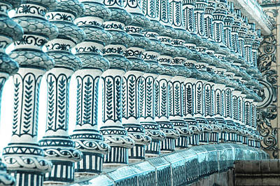 Monochrome Photograph - Details In Blue From Seville  by Andrea Mazzocchetti