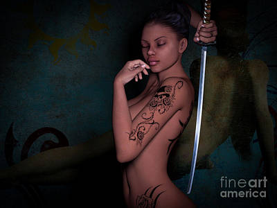 Female Body Digital Art - Determine Your Fate by Alexander Butler