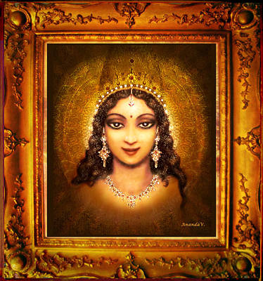 Devi Darshan Art Print by Ananda Vdovic