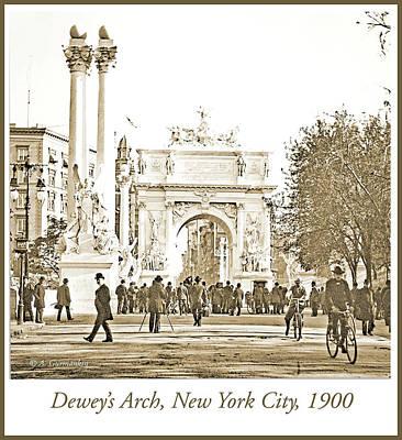 Dewey's Arch, New York City, 1900, Vintage Photograph Art Print