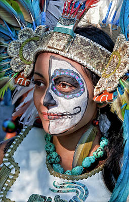 Dia De Los Muertos - Day Of The Dead 10 15 11 Procession Art Print by Robert Ullmann