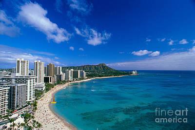 Photograph - Diamond Head And Waikiki by William Waterfall - Printscapes