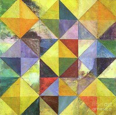 Modern Wall Art - Mixed Media - Diamond Illusion by Christine Chin-Fook