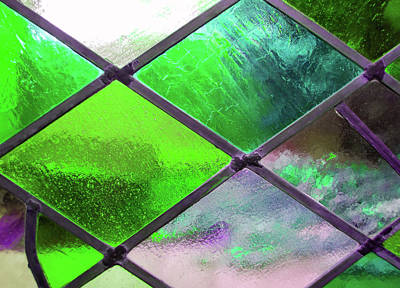 Photograph - Diamond Pane Glass Green by JAMART Photography