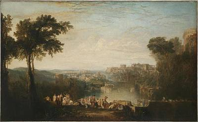 Aeneas Painting - Dido And Aeneas by Joseph Mallord