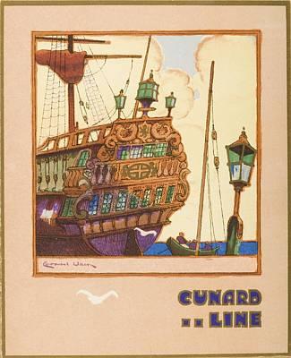Dinner Menu. Cunard Line. R.m.s Art Print