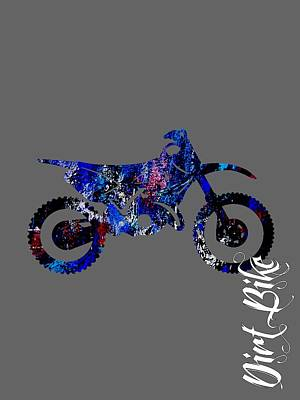 Dirt Bike Collection Art Print by Marvin Blaine