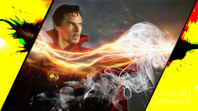 At Poster Mixed Media - Doctor Strange Collection by Marvin Blaine