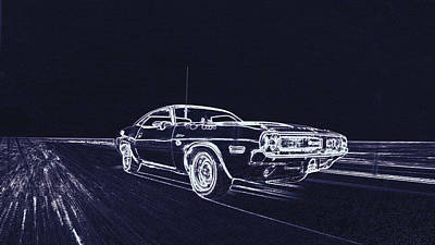 Faries Digital Art - Dodge Challenger Fary Kolesa by PixBreak Art