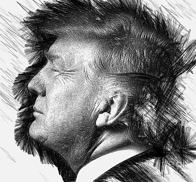 Digital Art - Donald J. Trump by Rafael Salazar
