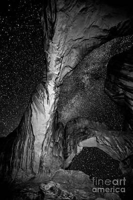 Double Arch And The Milky Way - Utah Art Print by Gary Whitton