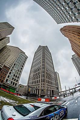 Photograph - Downtown Detroit Michigan City Skyline by Alex Grichenko