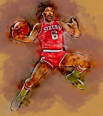 Dr J Julius Erving Art Print