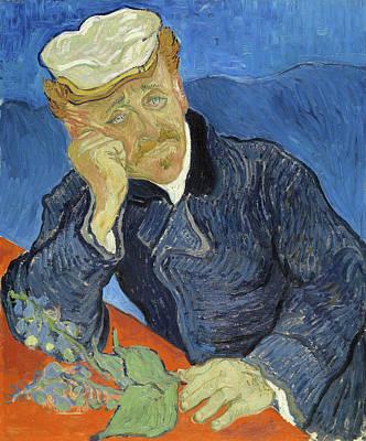 Flower Painting - Dr. Paul Gachet by Vincent van Gogh