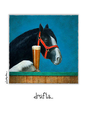 Draft Horse Painting - Drafts... by Will Bullas