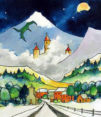 Dragon Art Print by James Smith