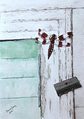 Rural Decay Painting - Dragonfly by Bonnie Young