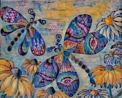 Digital Art - 2 Dragons Digital by Megan Walsh
