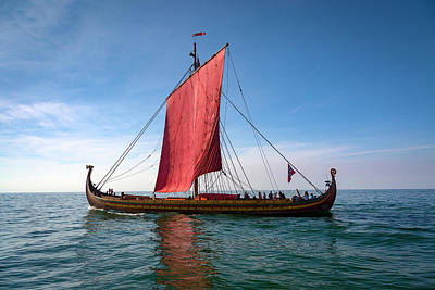 Photograph - Draken Harald Harfagre Sailing Into The Wind by Jack R Perry