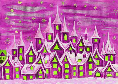 Painting - Dreamstown Pink by Irina Afonskaya