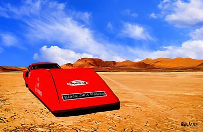 Dry Lake Hot Rod Racecar Art Print by Jake Steele