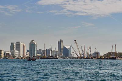 Keith Richards - Dubai Creek and abra boats by Jouko Lehto
