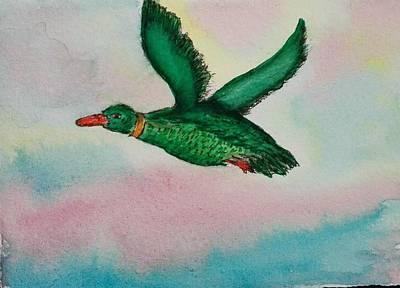 Painting - Duck by Jesus Nicolas Castanon