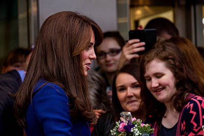 Duke And Duchess Of Cambridge Prince William And Kate Middleton Visit Dundee Art Print