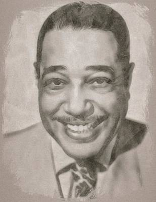 Musicians Drawings Rights Managed Images - Duke Ellington Royalty-Free Image by John Springfield