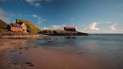 Dunaverty Bay Boathouse And Sea Captains Quarters Art Print