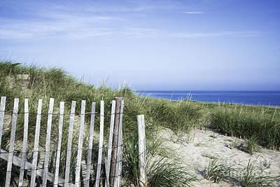 Race Point Photograph - Dune Fence by John Greim