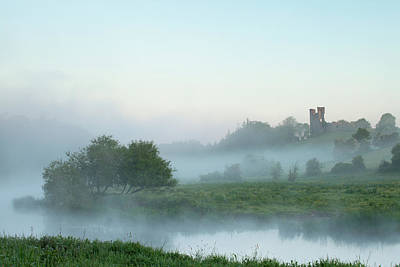 Photograph - Dunmoe Castle County Meath by Peter McCabe