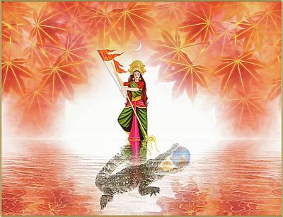 Digital Art - Durga by Harald Dastis