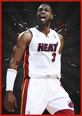 Blake Digital Art - Dwyane Wade by Semih Yurdabak
