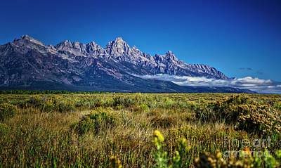 Photograph - Early Morning In The Grand Tetons by Bruce Block