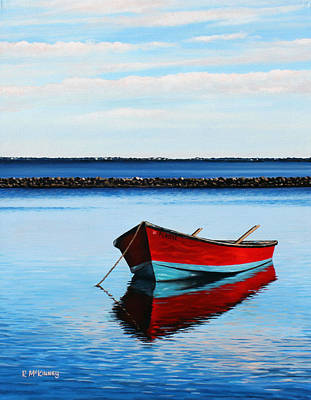 Oyster Painting - Eastpoint Red by Rick McKinney