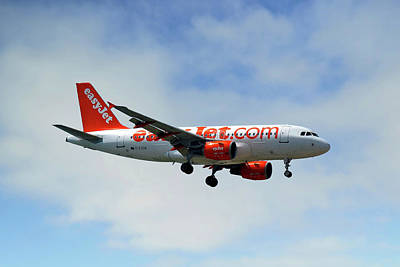 Photograph - Easyjet Airbus A319-111 by Nichola Denny