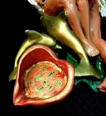 Ceramic Art - Ebony Angels by Frederick Dost