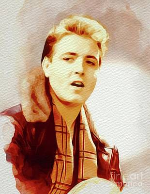 Music Paintings - Eddie Cochran, Music Legend by Esoterica Art Agency