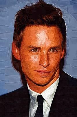 Actor Digital Art - Eddie Redmayne by Best Actors