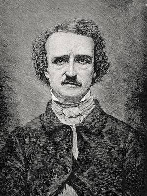 Poe Drawing - Edgar Allan Poe 1809 To 1849 American by Vintage Design Pics
