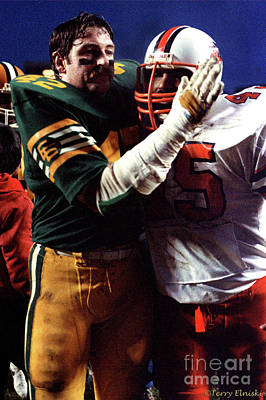 Photograph - Edmonton Eskimos Football - Dan Kepley - 1981 by Terry Elniski