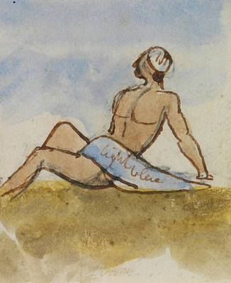 Drawing - Egyptian Man by Edward Lear