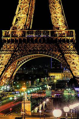 Paris Skyline Photos - Eiffel at Night by Andrew Soundarajan