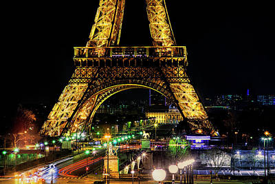 Paris Skyline Royalty-Free and Rights-Managed Images - Eiffel Tower by Andrew Soundarajan