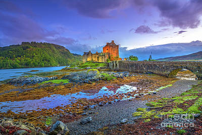 Photograph - Eilean Donan Twilight by Benny Marty