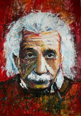 Relativity Painting - Einstein by Marcelo Neira