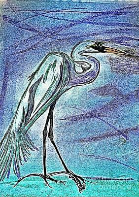 Elegant Egret Original