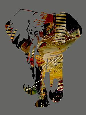 Wildlife Art Mixed Media - Elephant Collection by Marvin Blaine